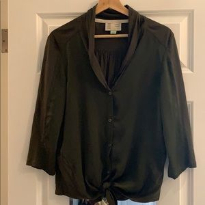 Anthropologie mixed media blouse